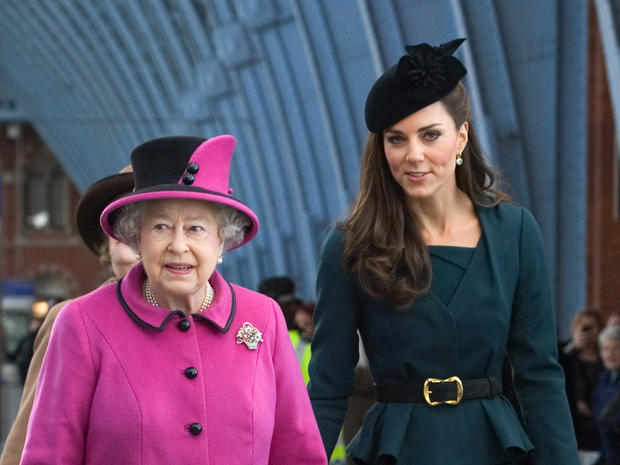 The Queen and Catherine: Together again