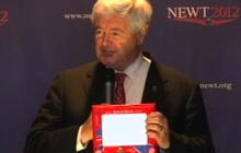 "Gingrich hits Romney on ""Etch A Sketch"" comments"