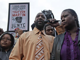 Trayvon Martin's parents take part in the Million Hoodie March