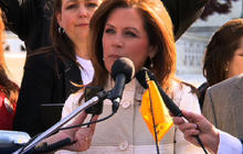 Bachmann, Tea party rally at Supreme Court