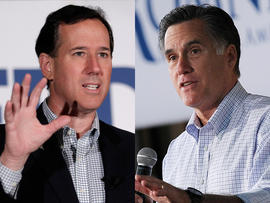 Rick Santorum and Mitt Romney