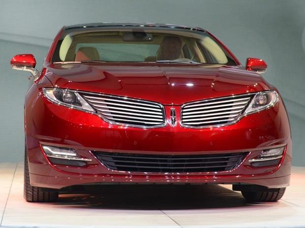 The new Lincoln MKZ is on display during the first day of press previews at the New York International Automobile Show on April 4, 2012 in New York. AFP PHOTO/Stan HONDA (Photo credit should read STAN HONDA/AFP/Getty Images)