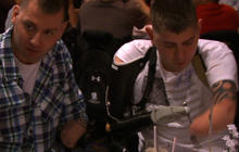 Web Extra: Friday night dinner with wounded warriors