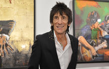 """Ronnie Wood's """"Faces, Time and Places"""" art exhibition"""