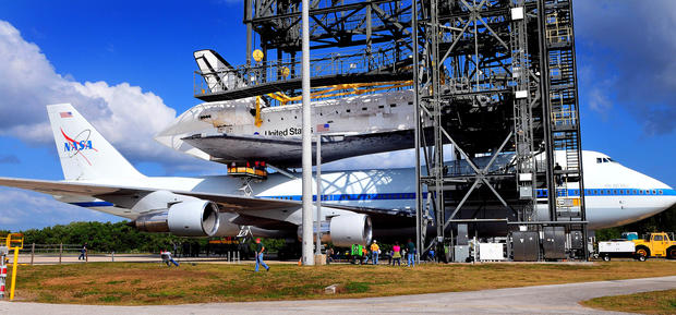 Space Shuttle Discovery flies final mission