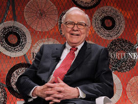 Berkshire Hathaway CEO Warren Buffett attends the Fortune Most Powerful Women summit at Mandarin Oriental Hotel on October 5, 2010 in Washington, DC.