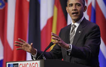 Obama stands firm on Afghan exit strategy at NATO summit