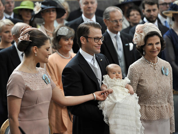 Sweden's Princess Estelle baptized