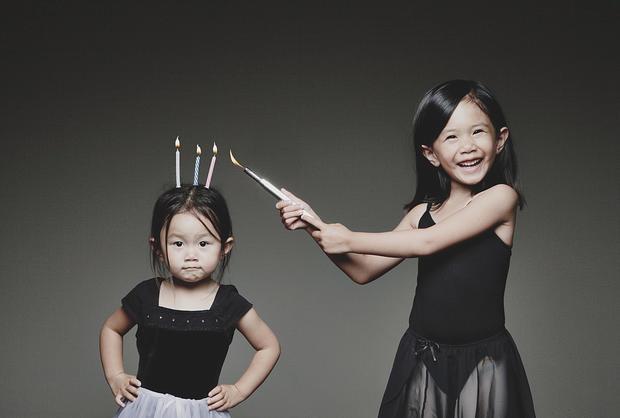 Dad makes editing magic in kids' photos