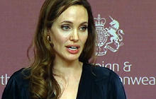 Angelina Jolie campaign against sexual violence