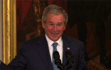 Bush brings sense of humor back to White House