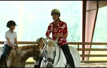 Ann Romney horseback riding