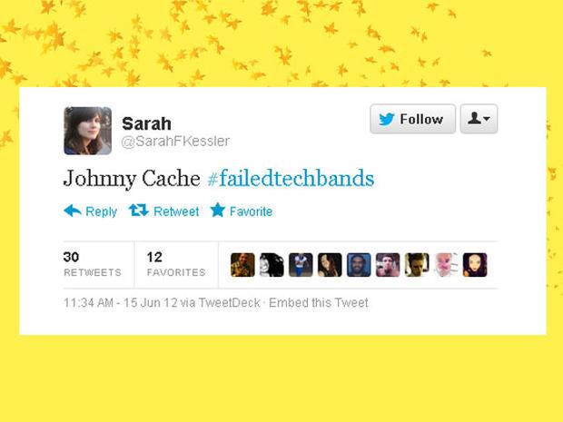 Hilarious #FailedTechBand names on Twitter