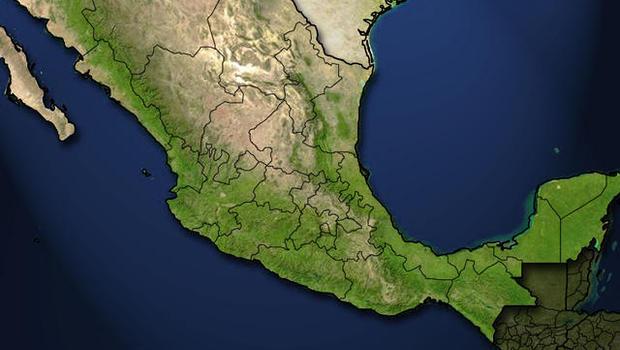 Eldest of Mexicos Arellano Felix drug clan killed CBS News – Topographic Map Mexico