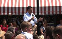 Romney takes on Obama protesters