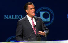 Romney treads lightly on immigration issue