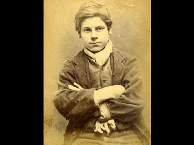 Children's mugshots from the 1870s