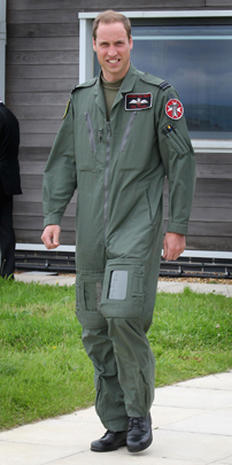 Prince Charles visits Prince William's RAF base