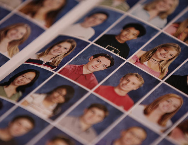 James Holmes, center, pictured in San Diego's Westview High 2005 yearbook when he was a junior.