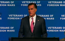 Romney slams Obama for leaks at VFW