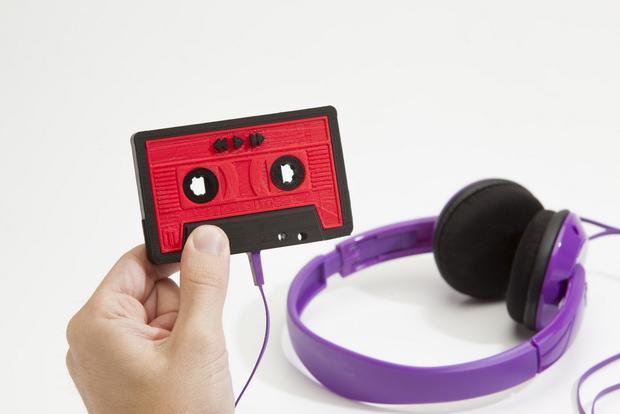 MakerBot's MixTape 3D printer MP3 player.