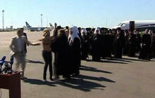 Topless feminist protests Russian patriarch