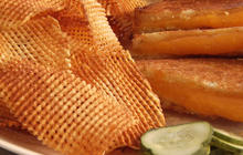 How to make waffle chips at home