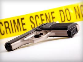 Handgun, Crime Scene Tape