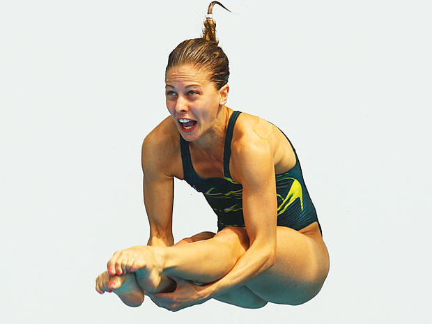 Olympic divers' funny faces