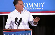 """Romney: Jobs report a """"hammer blow"""" to middle class"""