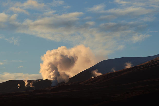 New Zealand volcano erupts