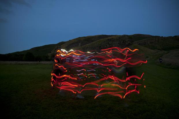 "Runners create ""The Speed Of Light"""