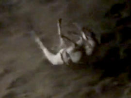 Video catches a horse stumbling down Suicide Hill during an Omak Suicide Race in the mid-2000s.