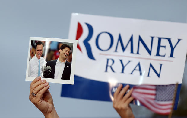 Mitt Romney campaigns with Paul Ryan