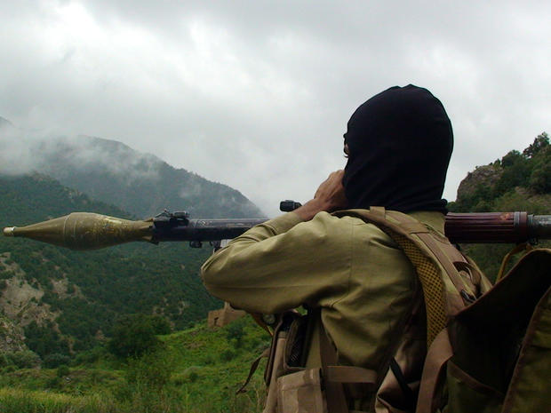 A Pakistani Taliban militant holds a rocket-propelled grenade at the Taliban stronghold of Shawal in Pakistani tribal region of Waziristan along the Afghan border Aug. 5, 2012.