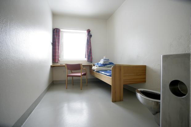 A cell in the isolation wing of the Ila prison in Baerum just outside Oslo.