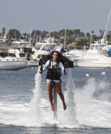 California couple's jet pack wedding