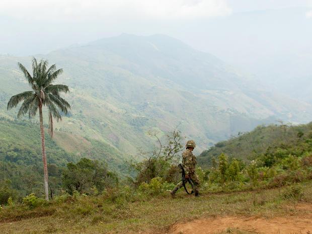 colombia, soldier, jungle, patrol, FARC, guerrillas