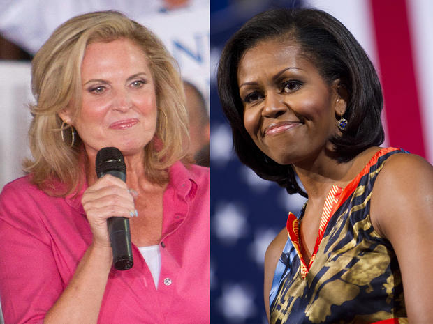 Ann Romney and  Michelle Obama