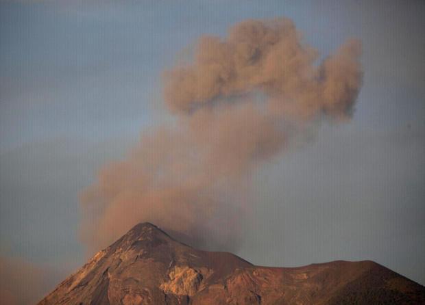 Volcano erupts in Guatemala