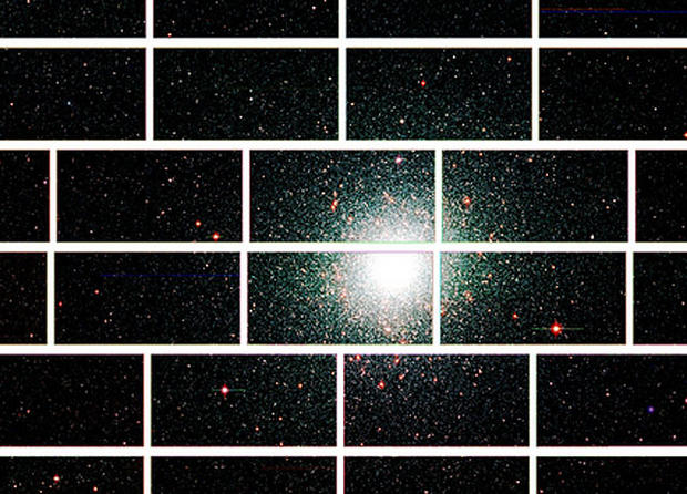 This zoomed-in image from the Dark Energy Camera of the center of the globular star cluster 47 Tucanae, which lies about 17,000 light years from Earth.