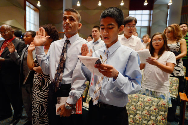 Young immigrants become Americans