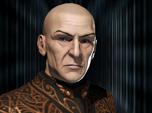 """CCP Games提供的这种未注明日期的宣传形象将Sean Smith的计算机生成的头像画像显示为""""Vile Rat"""",来自游戏""""EVE Online""""。"""