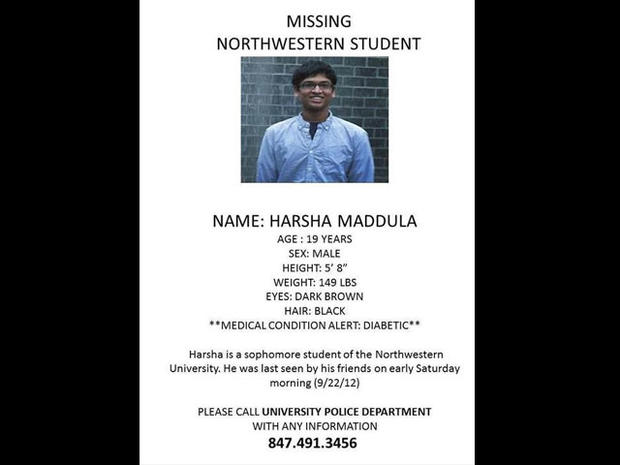 Body of missing Northwestern student found