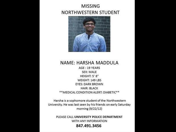 Body of missing Northwestern student found