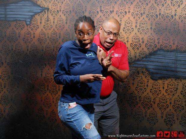 Terrified reactions at haunted house, Pt. 1