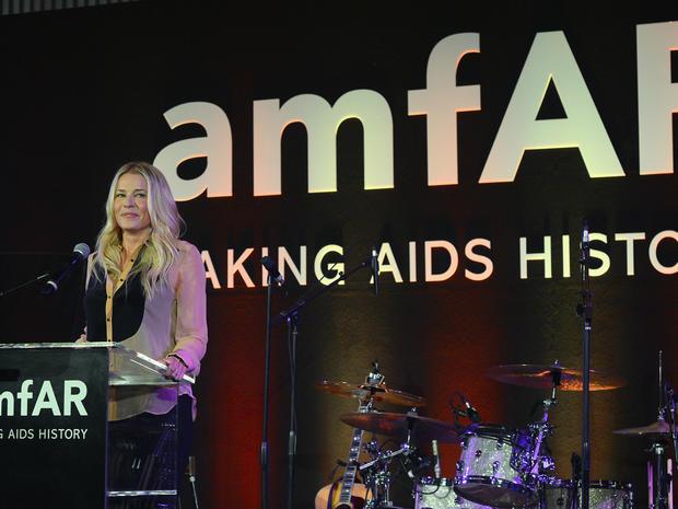 Stars strut at amfAR's Inspiration Gala