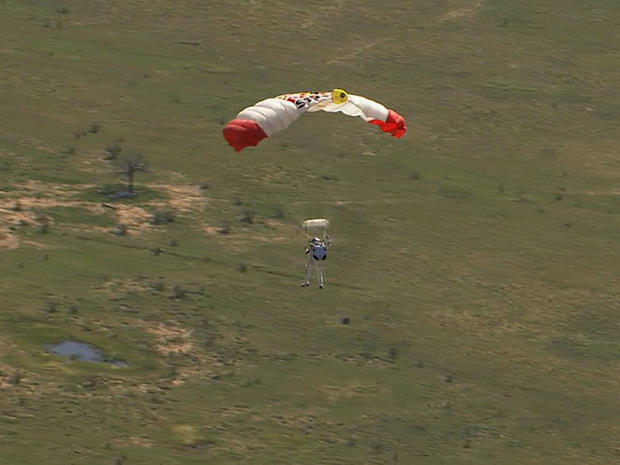 One giant leap for a skydiver