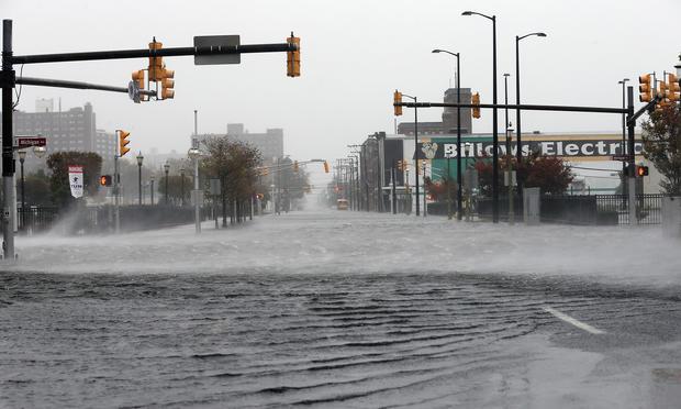 Superstorm slams Jersey Shore