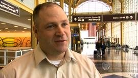 Rod Johnson, waiting at Reagan International Airport, said his flight was cancelled four different times.